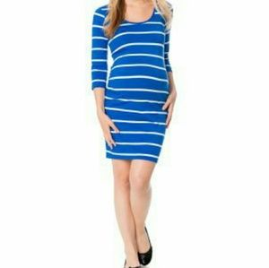 BumpStart Dresses & Skirts - BumpStart Maternity dress royal blue and white