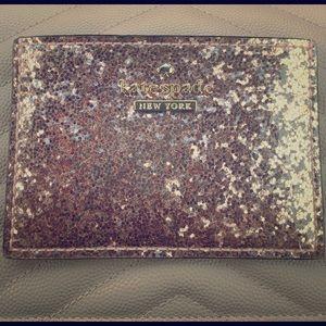 kate spade Handbags - Kate Spade Glitter Bug Card Case in Rose Gold