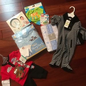 Halo Other - NWT! Baby Boy Bundle- SleepSack, outfits, etc.