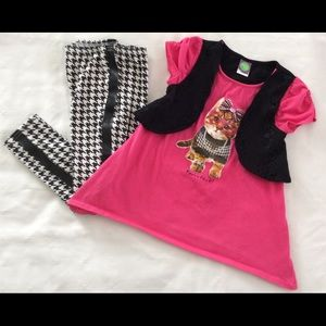 Dollie & Me Other - Dollie & Me Purrrfect! tunic and leggings NWOT
