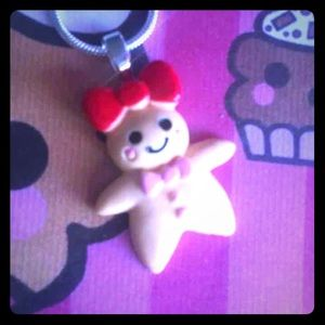 Jewelry - Cute gingerbread girl necklace