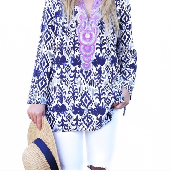 Lilly Pulitzer Tops - SALE 🎉 Lilly Pulitzer Renato Tunic In Tons Of Fun