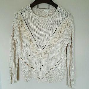 H&M Sweaters - H&M chunky fringe oversized sweater! Xs