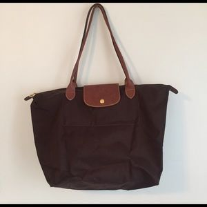 Longchamp Handbags - Longchamp Pliage brown tote