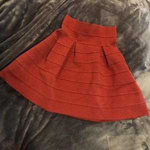 Orange H&m skirt size small
