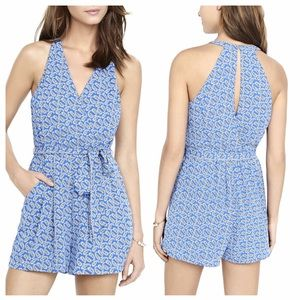 MOVING SALE❗️Express Blue Paisley Romper