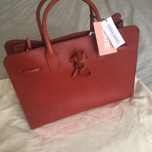 Mansur Gavriel Large Sun Leather Tote Bag