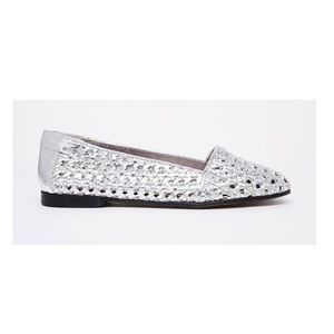 H By Hudson Shoes - H by Hudson Metallic Coco Woven Leather Loafers