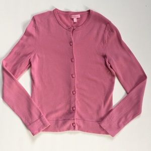 Lilly Pulitzer Pink Long-Sleeve Wool Cardigan