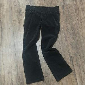 Old Navy Pants - Old Navy Maternity 4 gray corduroy boot cut pants