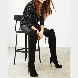Sam Edelman Shoes - Sam Edelman Kayla Suede Over the knee boots black
