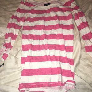 Striped baseball tee shirt
