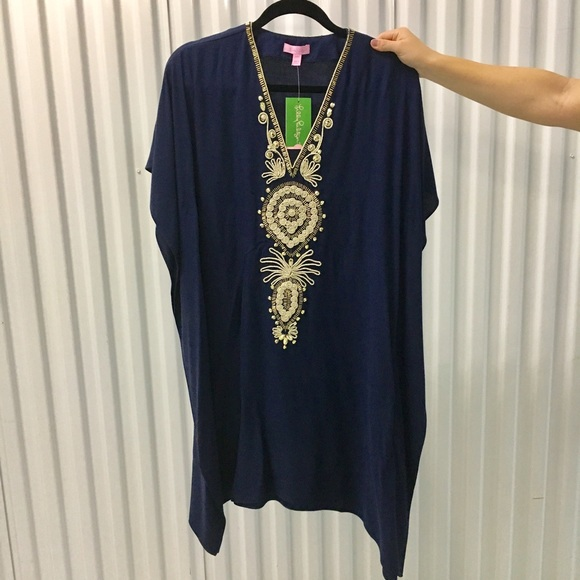 Lilly Pulitzer Dresses - SALE 🎉 Lilly Pulitzer Chai Caftan In True Navy
