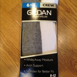 Gildan Other - Bundle of 6 Gildan Platinum Crew Socks for Men✨⚡️