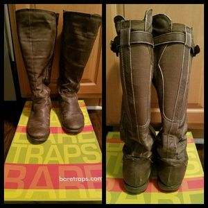 🔴FREE Baretraps brown knee high wide calf boots