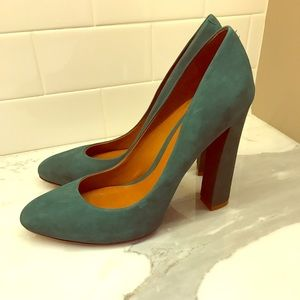 Schultz Shoes - Schutz Suede Teal Pumps Sz 9