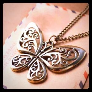Jewelry - Butterfly bronze Necklace