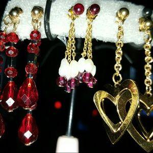 3 Pair of dangle earrings