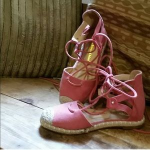 Shoes - Pink espadrilles never been worn! New without tags