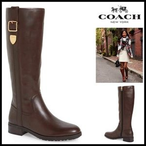 Coach Shoes - COACH LEATHER BOOTS KNEE HIGH