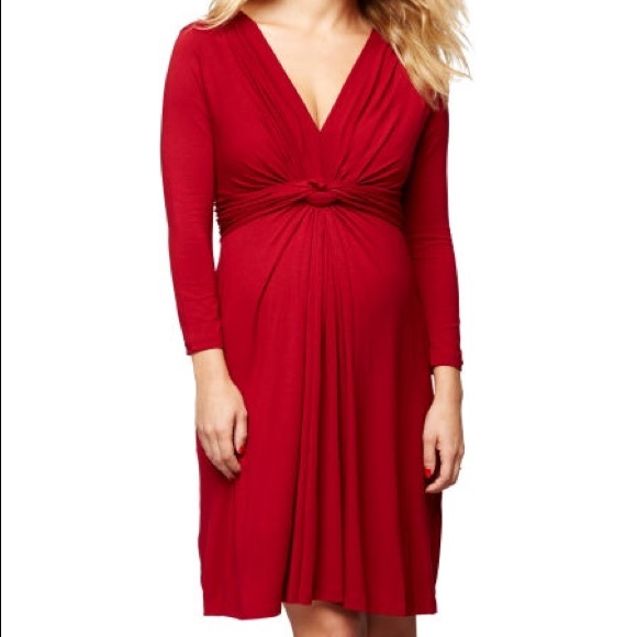298db40f49b13 Seraphine Knot Front Maternity Dress (Red). M_589b909e99086a6a9401815e