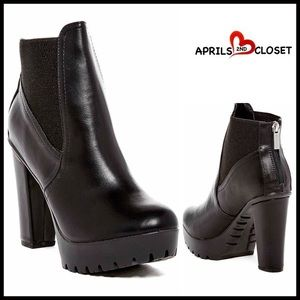 Breckelles Shoes - ❗1-HOUR SALE❗High Heeled Ankle Boots Vegan Leather
