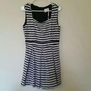 New Modcloth Black and White Dress