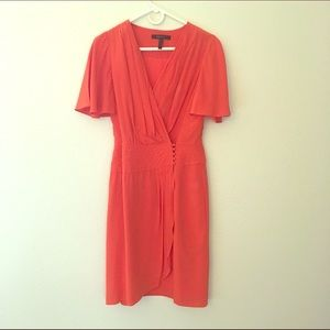 BCBG Dresses & Skirts - BCBG Orange Wrap Dress