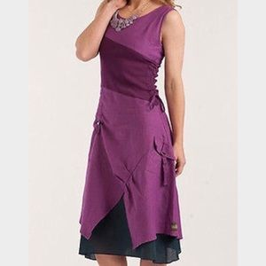 Matilda Jane Ekaterina Dress Grape Size Medium