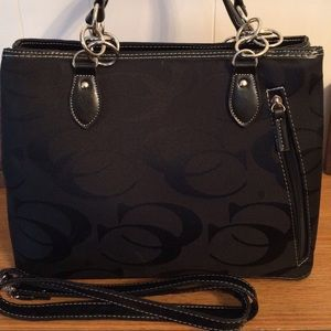 Gorgeous designer inspired black handbag
