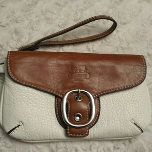 Handbags - Coach Bleecker Capacity Leather Flap Wristlet