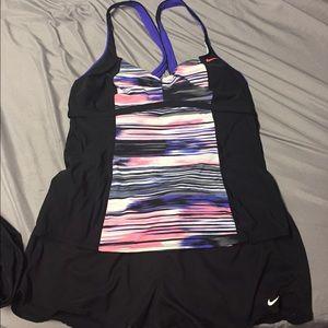 Nike 2 piece swim suit