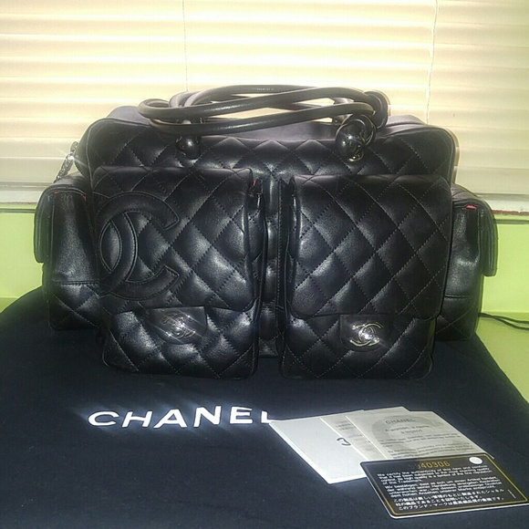 3bd822d3e93687 Chanel Handbags - Authentic Chanel Cambon Reporter Bag in Black