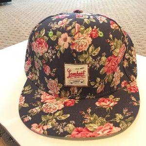 Vintage look floral snapback
