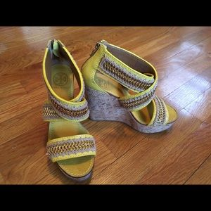 6cf5595f294 Tory Burch Shoes - SALE 🎉🛍 Tory Burch Lucian Yellow and Gold Wedges