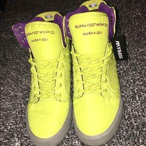 Supra Shoes - SALE: Acid Yellow Supras