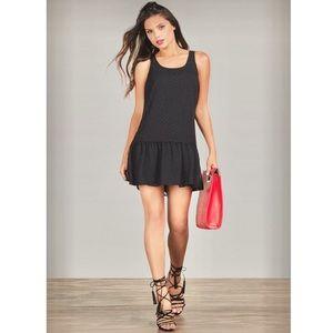 JustFab Dresses & Skirts - JustFab Black Drop Waist Polka Dot Dress
