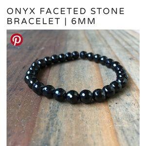 Jewelry - Handcrafted Black Onyx Mala Beaded Bracelet