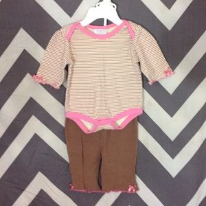 Bon Bebe Other - Brown & Pink Set - 3-6 Months
