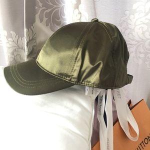 Green satin cap