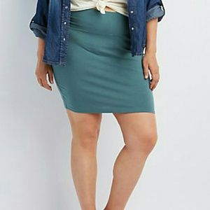Dresses & Skirts - PLUS SIZE BODYCON MINI SKIRT