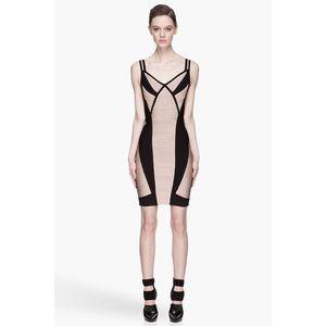 Herve Leger Nude/Black Dress