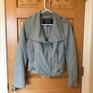 Nordstrom Jackets & Blazers - Blanc Noir Faux Leather/Cotton Blend Motto Jacket