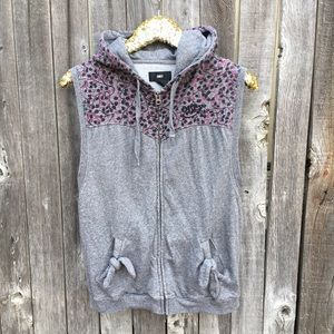 Obey Jackets & Blazers - {obey} Floral Zip Up Hooded Vest w Bow Pockets M