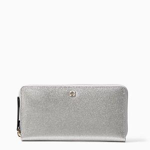 kate spade Handbags - 🎉HP🎉NWT Kate Spade Neda Wallet Sparkling Silver