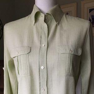 J.Crew size 10 shirt button up blouse women's