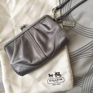 Coach Handbags - COACH Satin Party Clutch