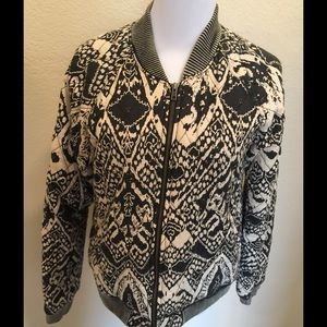Free people zip black/cream jacket S