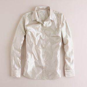 J CREW Molten metallic perfect shirt
