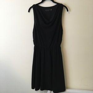 Alice + Olivia Black Sleeveless A-Line Dress